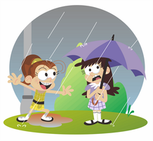 Playing in the Rain by Febriananda