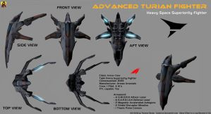Advanced Turian Fighter by Euderion