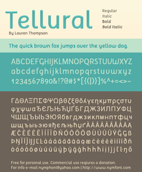 Tellural Font by nymphont