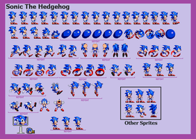 Sonic Before The Sequel Sprite Sheet Remastered by WinstonTheEchidna