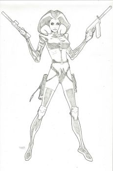 Aeon Flux Commission by timothygreenII