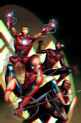 Spider-Men 3D Anaglyph 2 by xmancyclops
