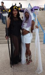 Metrocon 2018 Umbreon and Espeon by kingofthedededes73