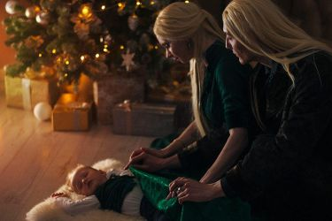 Christmas in  Malfoy Manor. by Fealin-Meril