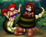 Naga Vs Lioness by Severflame