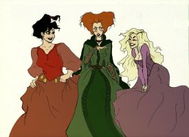 YOUNG!Sanderson Sisters by whathefuckable