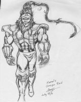 Omega Red. Marvel by adonishoward