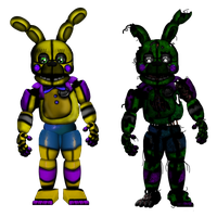 FnaF[SL]   -   Funtime S. Bonnie and Funtrap by Kero1395