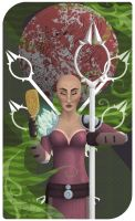 Five of Wands: Sybil Amell by emilythesmelly