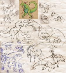DUMP of DINOSAURS by Mermaid-Kalo