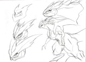 Kyurem Sketches by SpottedAlienMonster