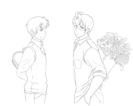 APH USUK lineart by maybebaby83