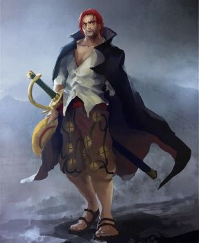 Red Haired Shanks by xraypr