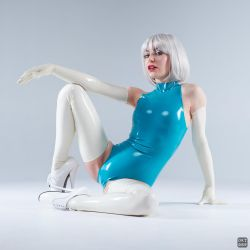 Turquoise and white latex 12 by okt0br