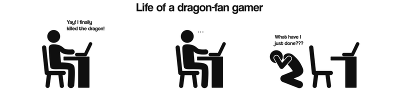 Life of a dragon-fan gamer by RandomVanGloboii