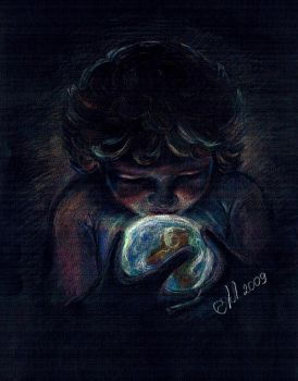 In Child's hands. For Gaza by Allada
