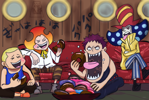 One Piece 902 - Young Charlotte Family by tahonard