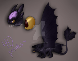 Night Fury Adoptable ~40 Points~CLOSED by CookieDashz
