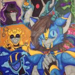 TFA characters and me as a transformer by Feline-girl-2000