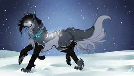 In the snow by Flyremoon