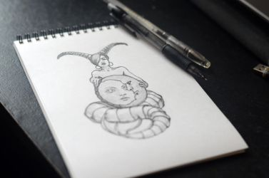 Capricorn. Zodiac Tattoo Sketch by Nelsonito