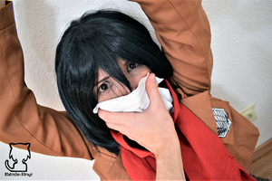 Mikasa in a lot of trouble... 3 by Natsuko-Hiragi