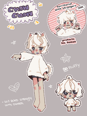 [CLOSED] Chow-Chow Adoptable [NYP/OTA] by Bumcchi