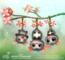 Daily Paint 1838# Cherry Plossums by Cryptid-Creations