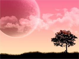 emo pink moon by WhisperInTheDark666