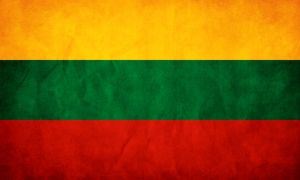 Lithuania Flag Grunge by think0