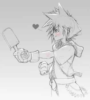 Human doodle project - Sora offering sea salt ice by Nyaasu