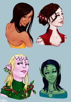 The Four Queens by GlassLotuses