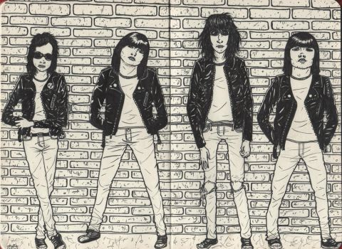 The Ramones by WerterSkelterNOW