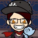 Meee! And my cat! (Face Q) by Unknowndemon626