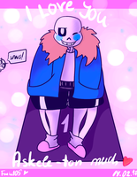 Sans wishes you a happy V-Day! by Foziz105