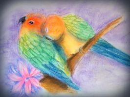 Birds and Blooms by avianAbstraction