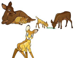 Cinnamon and Butter Scotch Deers by SunnyPopFeline