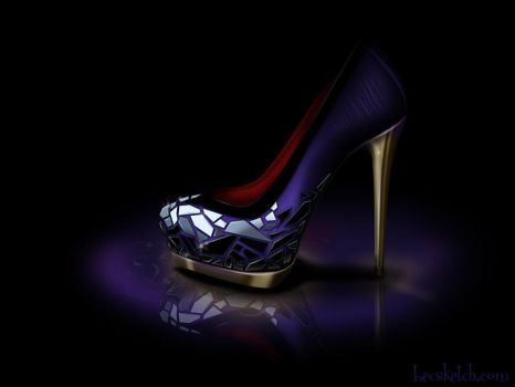 Evil Queen Inspired Shoe - Disney Sole by becsketch