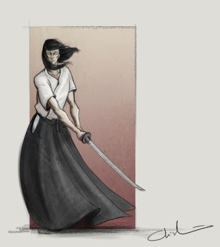 Samurai with sword by Coolgraphic