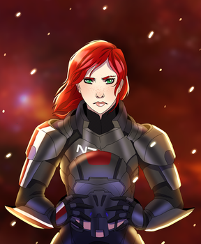 Commander Shepard by galexyia