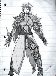 Concept - Elven Heavy Armour by Kain-Moerder