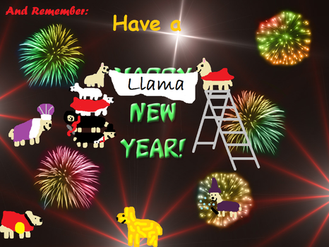 Have a llama new year by Lozziej