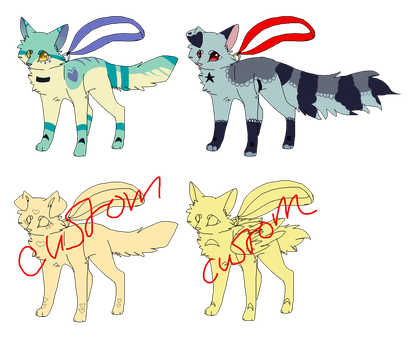 Foxwhistle adopts and customs 2 LEFT by Willubix