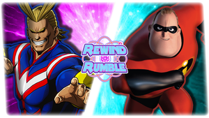RR|All Might vs. Mr. Incredible by Vex2001