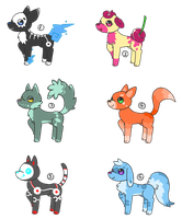 canine adopts (2 open) by bellpup