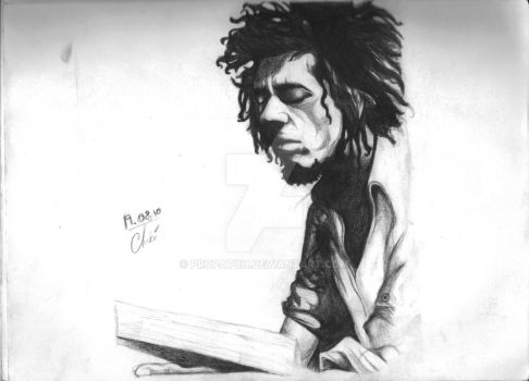 Bob in charcoal meditation by propatch