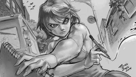 Pencil Fighter by Padder