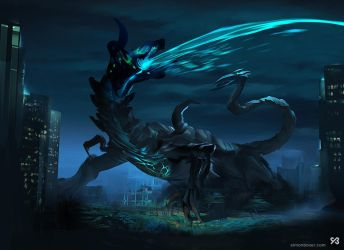 Kaiju concept inspired by Pacific Rim by SimonBoxer