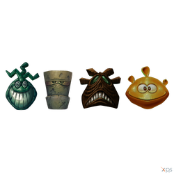 Rayman 2: The Great Escape - Polokus Masks by MrUncleBingo