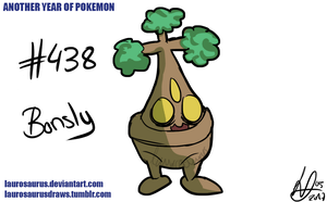 Another year of pokemon: #438 Bonsly